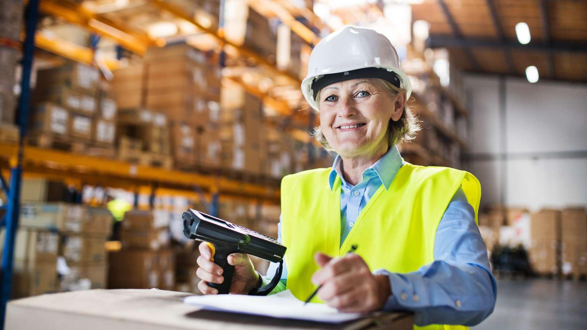 Starejša delavka - Usposabljanje za varnost in zdravje pri delu